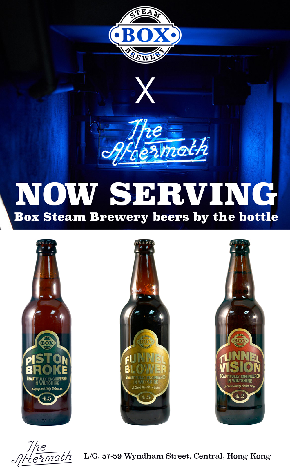 The Aftermath Bar is now serving Box Steam Beers