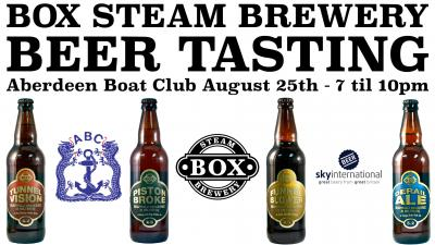 Box Steam Brewery Beer Tasting - August 25th at the ABC