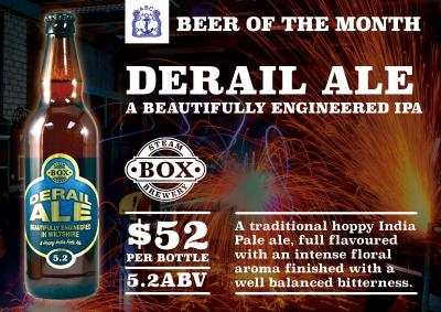 Derail Ale is Beer of the Month at the ABC